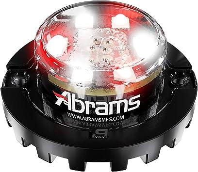 6 LED Emergency Vehicle Truck LED Hideaway Surface Mount Strobe Warning Light 18W White//White Abrams SAE Class-1 Impact 6