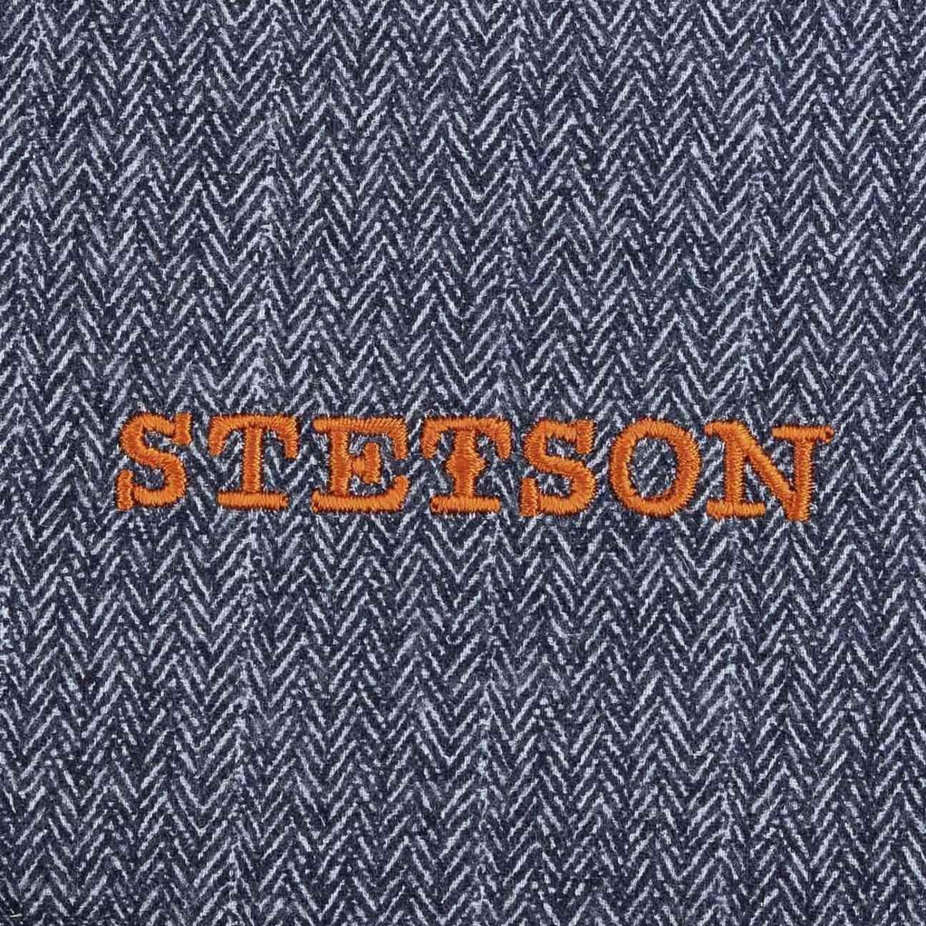 Stetson Hatteras Herringbone Coppola Berretto Piatto Newsboy Cappello  Invernale 744886f5d172