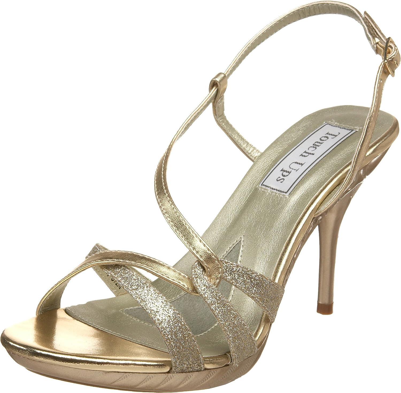 Bronze Platform Slingback Sandals Silver NEW Fortuna Prom Shoes Glitter Gold