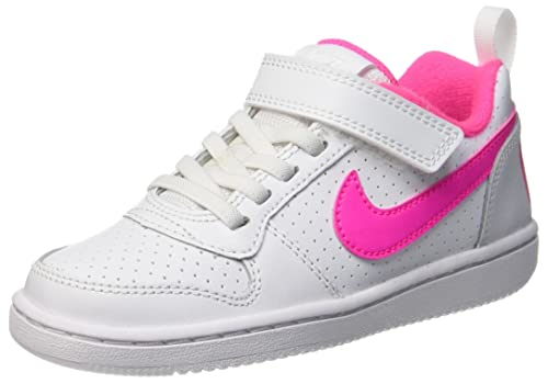 new products 9f5b8 9506a Nike Girls Court Borough Low (PSV) Basketball Shoes, Multicolour (White Pink
