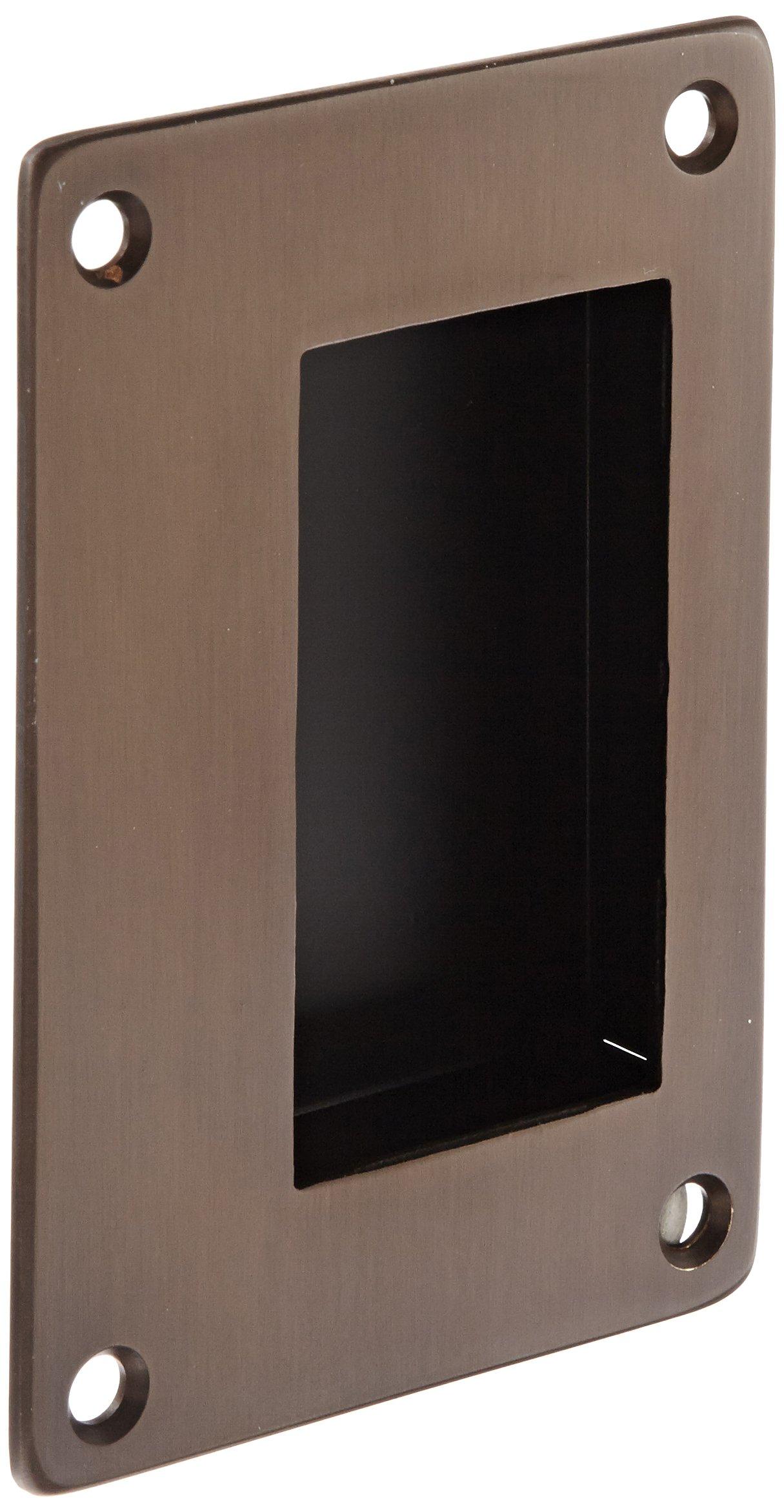 Rockwood 94BTB.10B Bronze Flush Pull Set, 3-1/2'' Width x 5'' Height x 1-3/4'' Depth, Satin Oxidized Oil Rubbed Finish