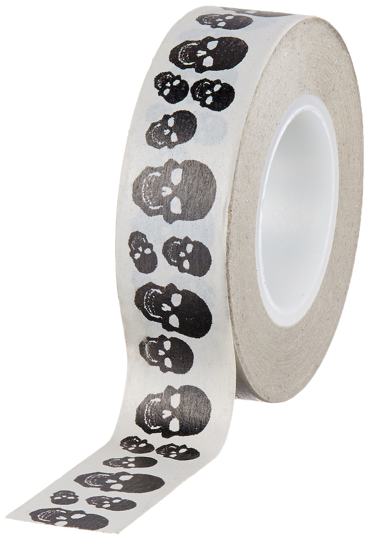 Tape Works Tape, Black and White Skulls
