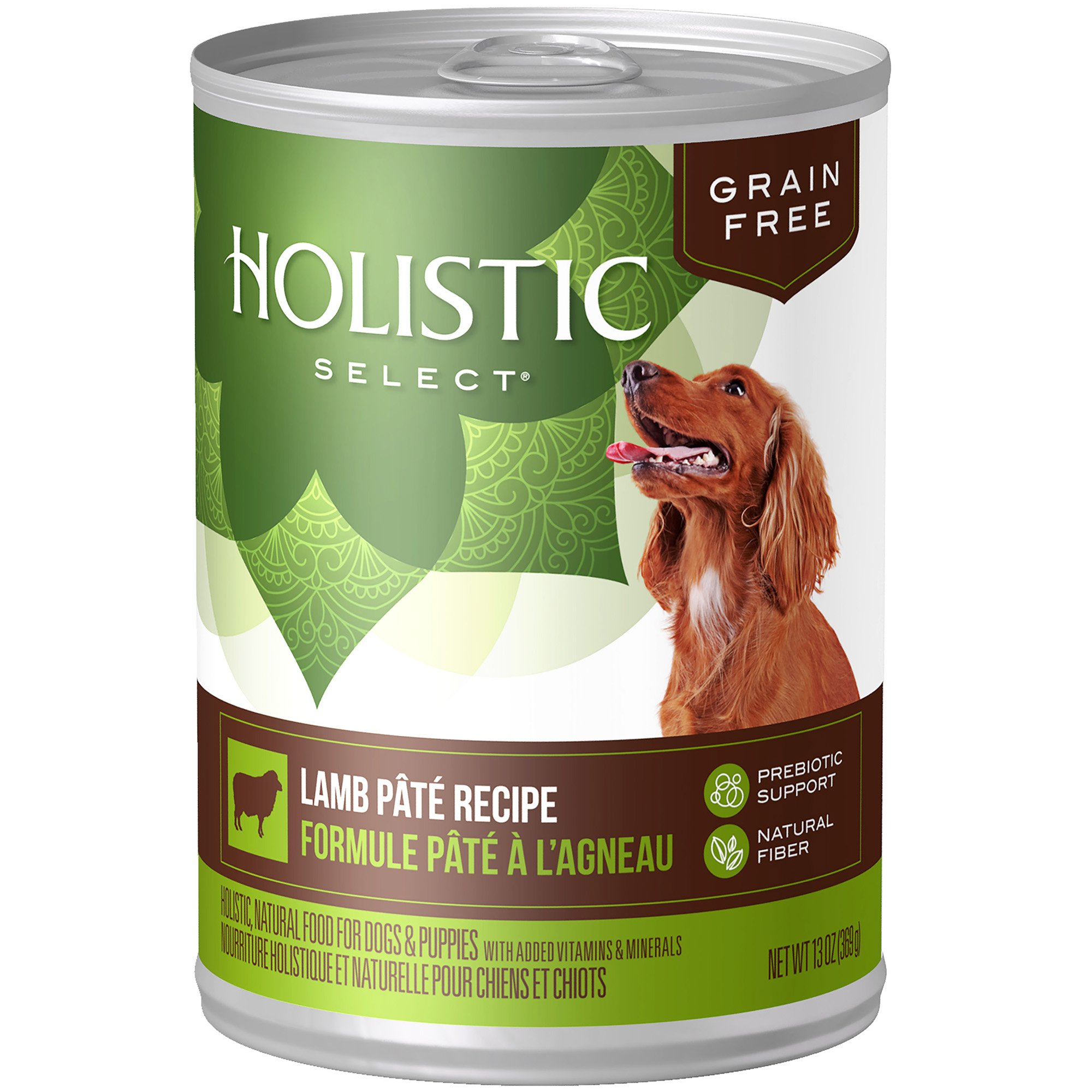 Holistic Select Natural Wet Grain Free Canned Dog Food, Lamb Pâté Recipe, 13-Ounce Can (Pack of 12)