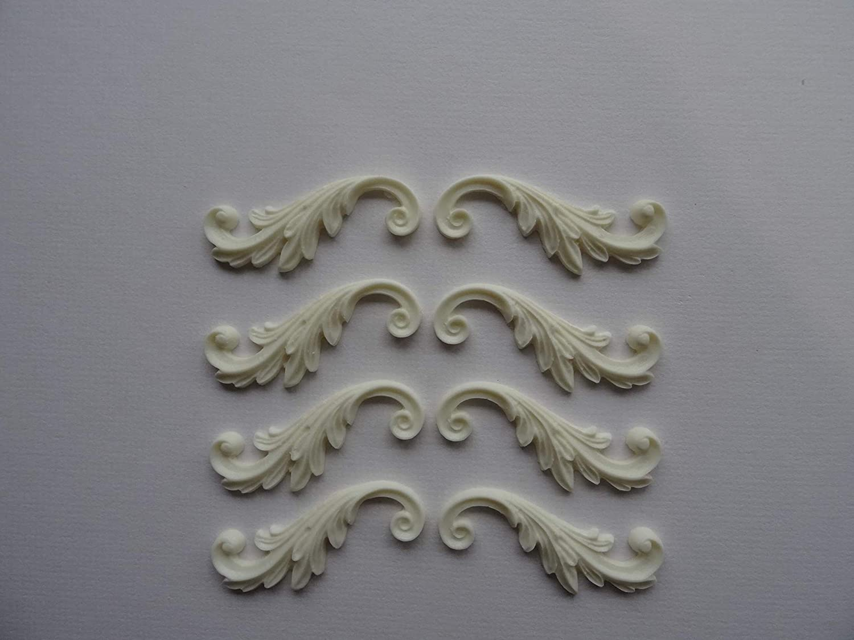 Decorative rose corners x 2 applique onlay resin furniture moulding RCS1X2