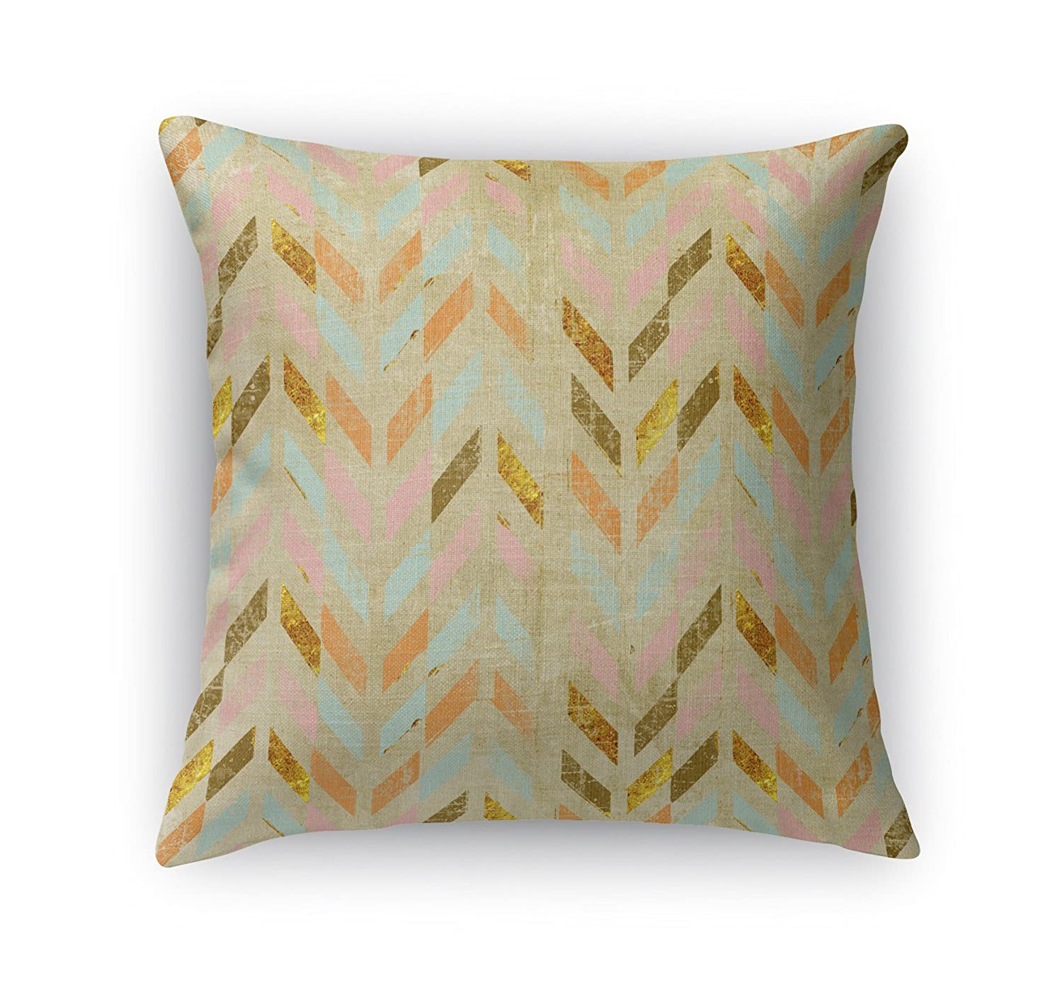 KAVKA Designs Palermo Accent Pillow, (Pink/Teal/Brown) - , Size: 18X18X6 - (TELAVC1443DI18)