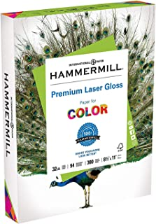 product image for Hammermill Paper, Premium Laser Gloss Paper, 8.5 x 11 Paper, Letter Paper, 32lb Paper, 94 Bright, 2 Pack / 300 Sheets (163110R) Acid Free Paper