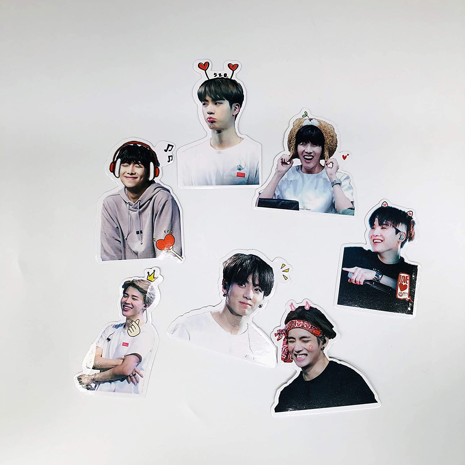 BTS-14PCS kpop BTS Stickers Luggage Case Skateboard Guitar Laptop Cell Phone Travel Door Car Bike Bicycle Stickers