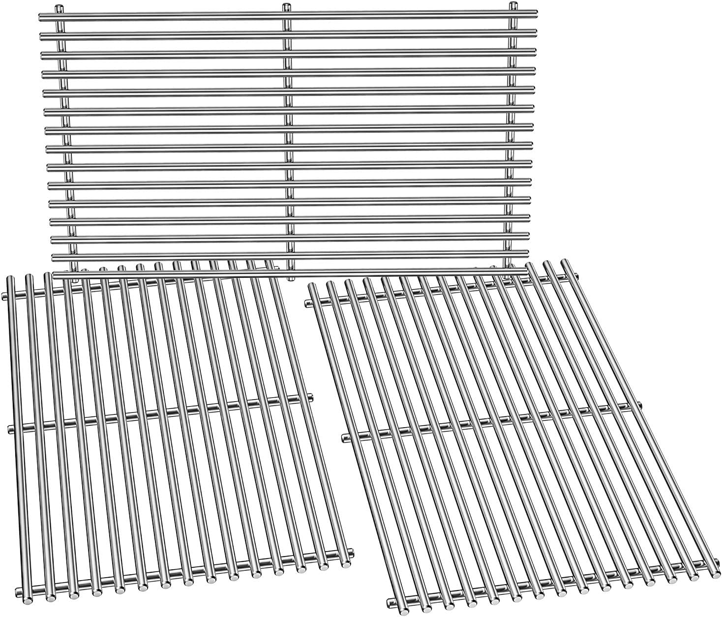 Stanbroil Replacement BBQ Stainless Steel Grill Cooking Grate for Weber Genesis II and Genesis II LX 400 Series(2017) Gas Grills, Set of 3