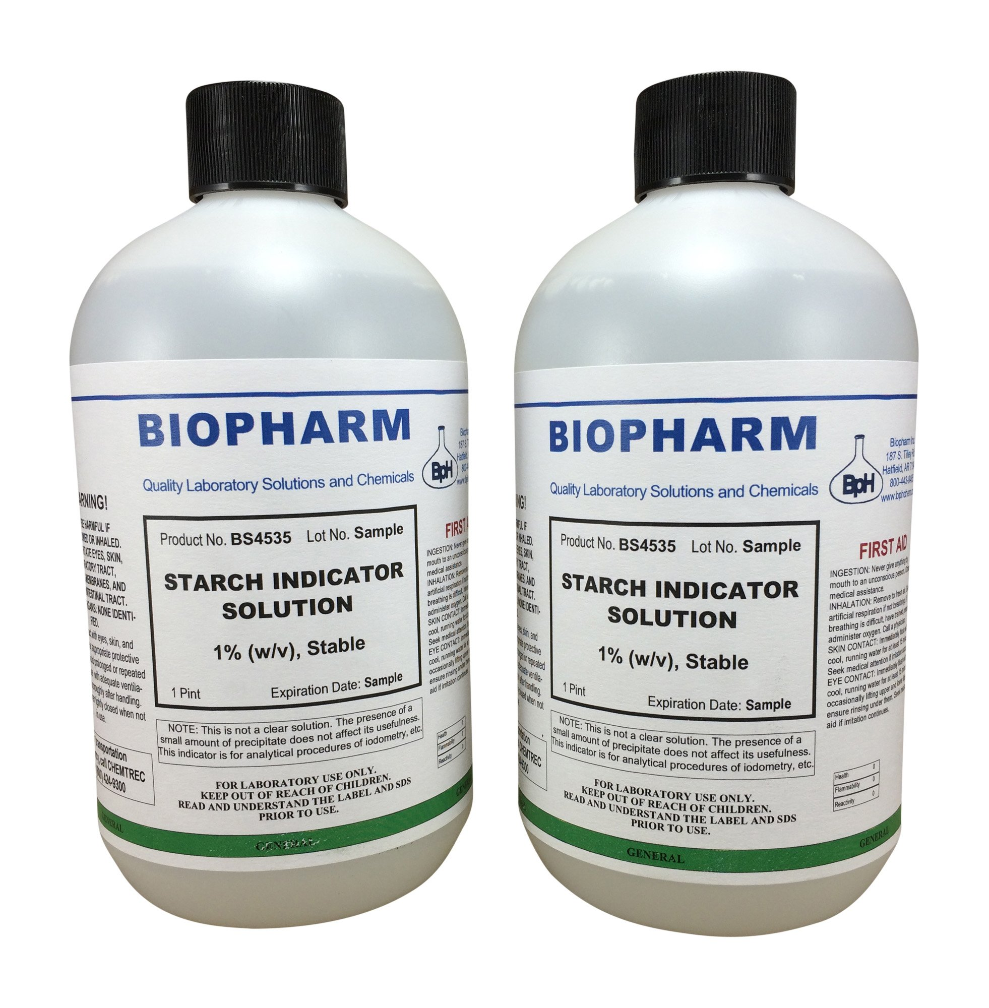 Starch Indicator Solution 1% for Iodometric Analysis 2-Pack 500ml each