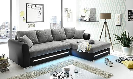 BEGA Corner Sofa Couch with LED Kent Designer: Amazon.de: Küche
