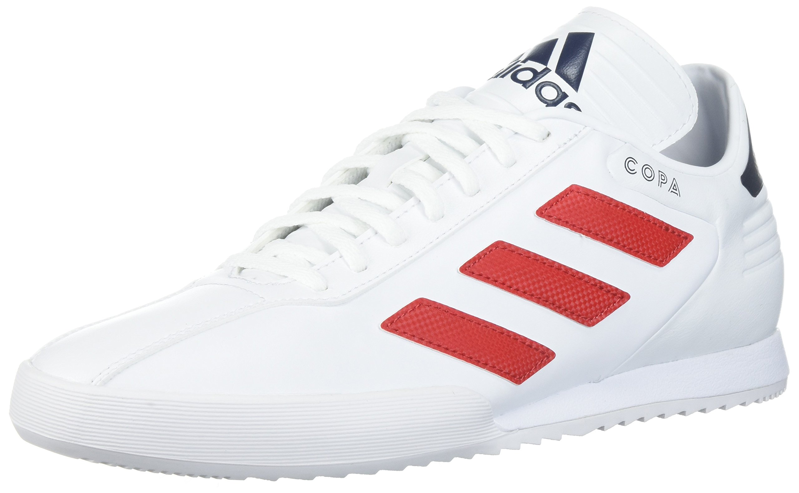 separation shoes 5a29a f9e9d Galleon - Adidas Mens Copa Super Soccer Shoe, WhiteScarletCollegiate Navy,  12.5 M US
