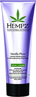 product image for Hempz Moisturizing and Strengthening Shampoo, Pearl Purple, Vanilla Plum, 9 Fluid Ounce