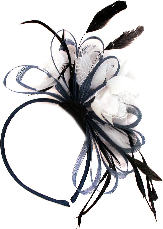 Flower Net Fascinator Headband Alice band Wedding Ladies Day Race Royal Ascot