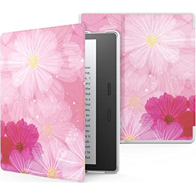 MoKo Funda Compatible con All-New Kindle Oasis (9th and 10th Generación Solo, 2017 and 2019 Release) - Ultra Delgada Ligera Smart-Shell Soporte Cover Case - Coreopsis