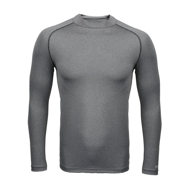 Rhino Childrens Big Boys Long Sleeve Thermal Underwear Base Layer Vest Top (5-6) (Heather Grey) by Rhino