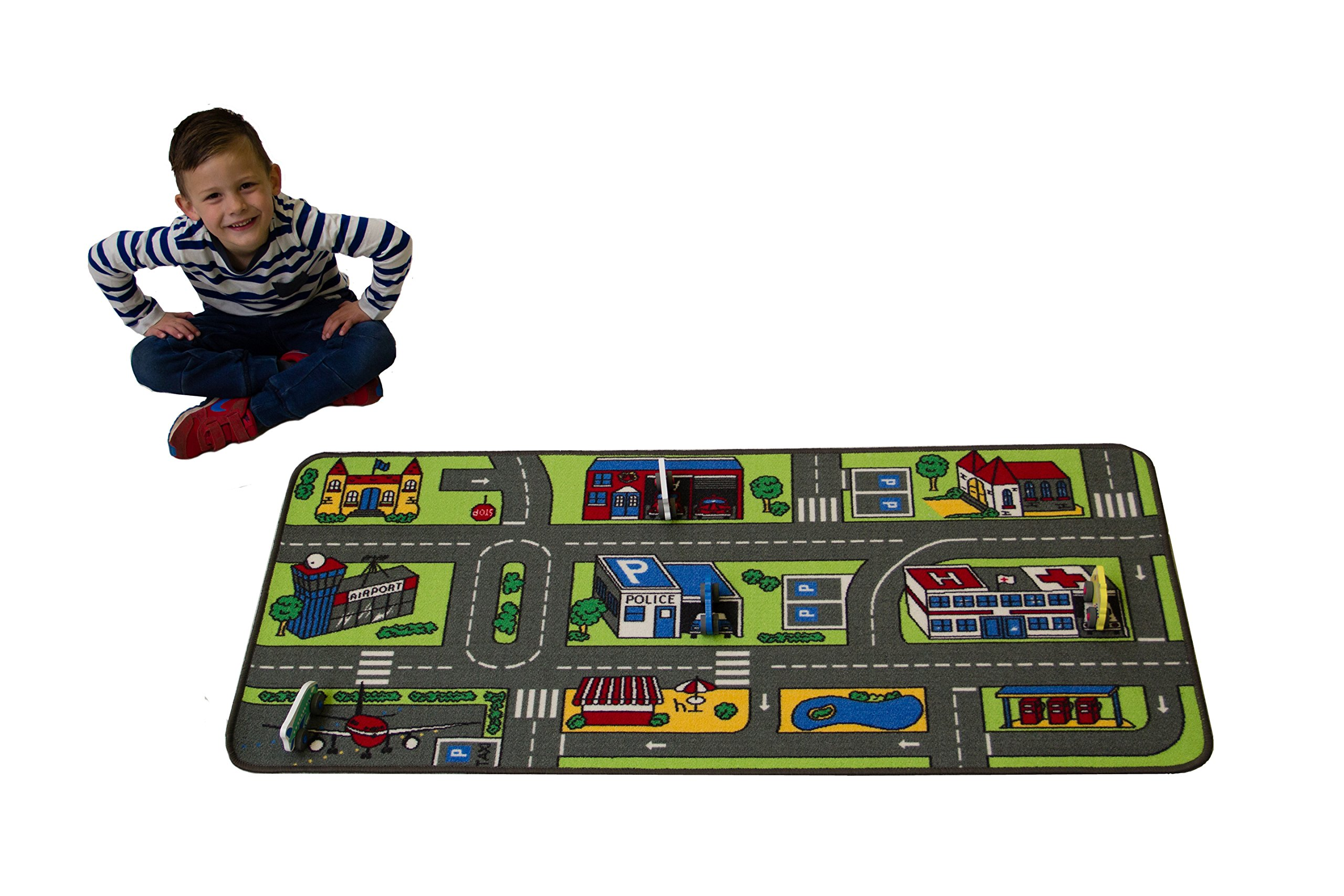 Children's Factory Learning Carpets Value City Life Play Carpet, 27'' x 60''