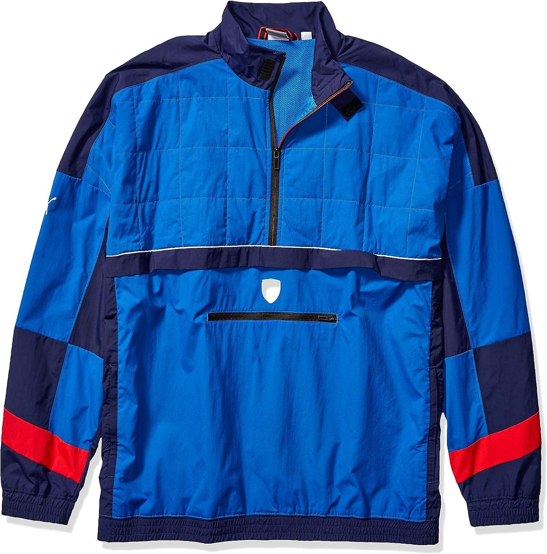 PUMA Men\u0027s Scuderia Ferrari Street Woven Jacket at Amazon