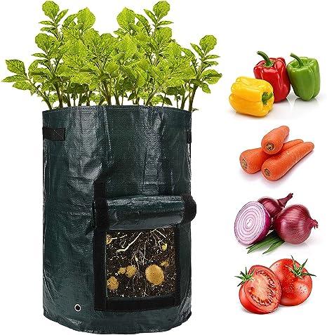 Potato Grow Bag Tomato Plant Bag Garden Patio Vegetable Planter Container Pot