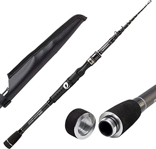 Enigma Fishing Pack Master Baitcasting Rod 6 Pc Telescopic Casting Rods, Travel Fishing Rod, Graphite Rod Blanks, Floating Guides, Ergonomic Handle, Freshwater Fishing Rod
