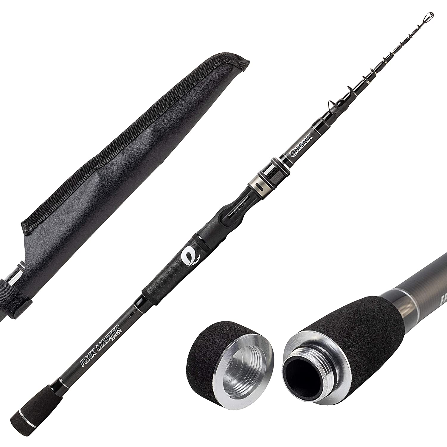 Enigma Fishing Pack Master Telescopic Fishing Casting Rods, Graphite Rod Blanks, Floating Guides
