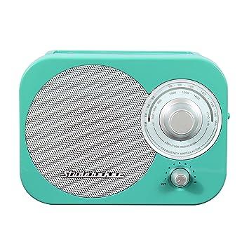 portable amfm radio in teal