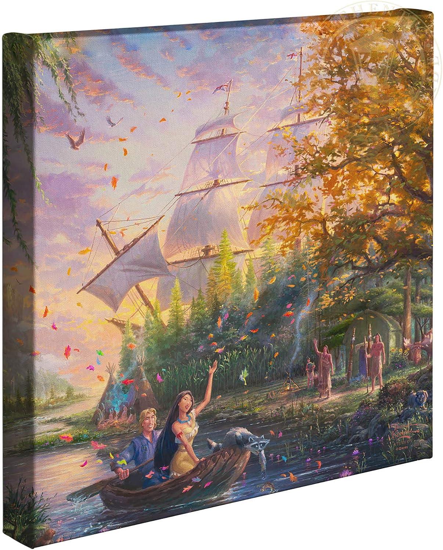 Thomas Kinkade Studios Disney Pocahontas 14 x 14 Gallery Wrapped Canvas