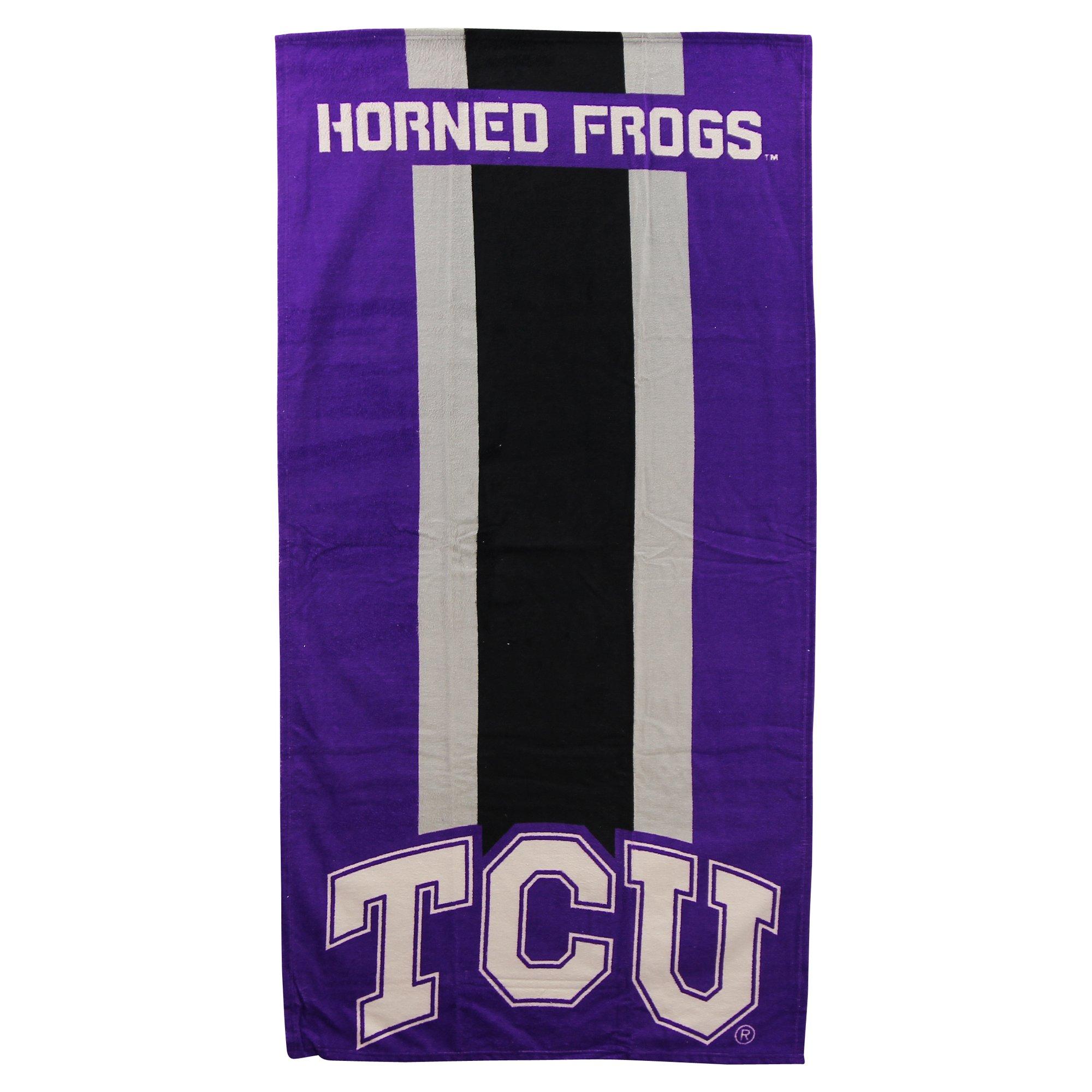 NCAA Collegiate Zone Read Beach Towel 30'' x 60'' (TCU Horned Toads)