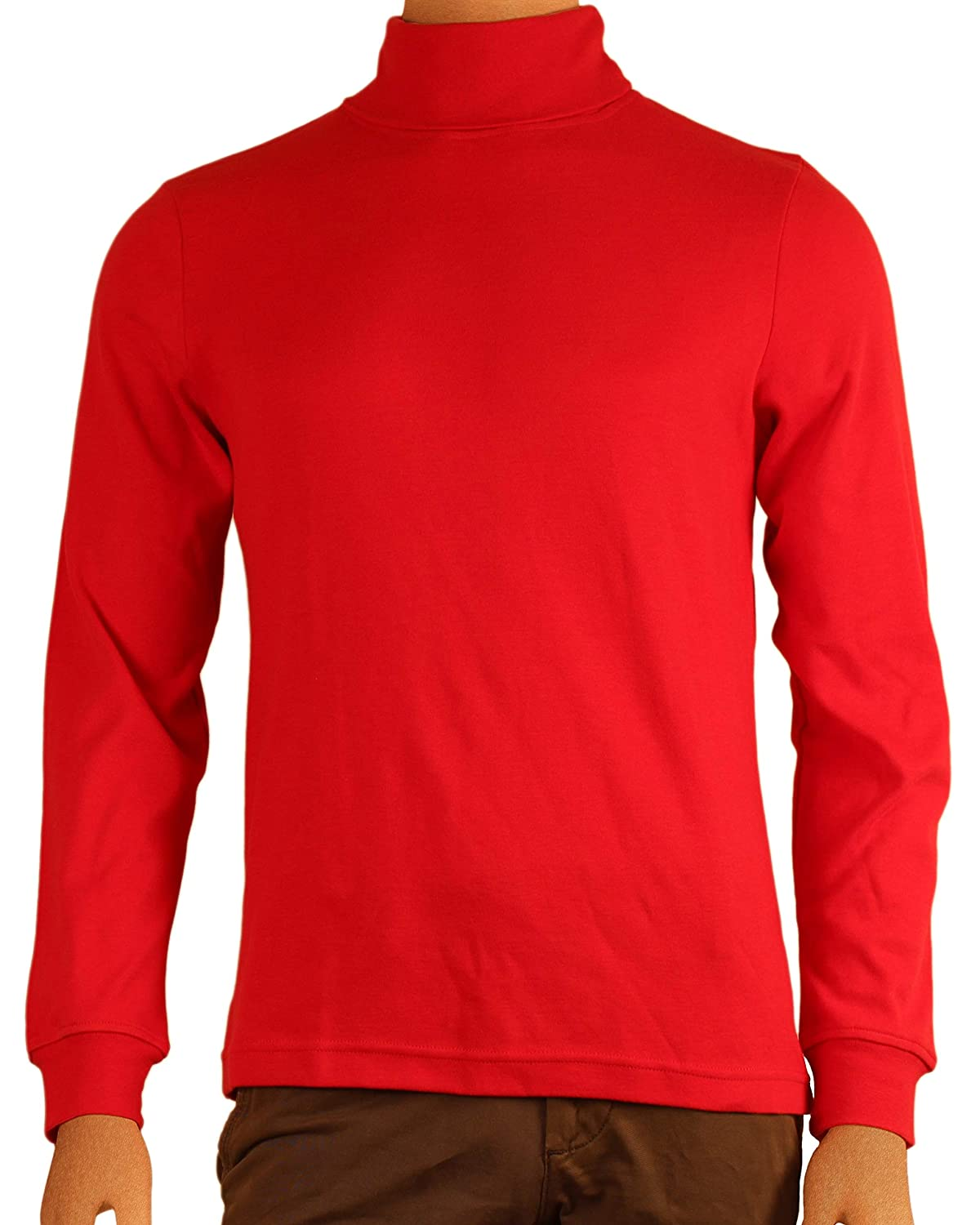 Men's 100% Combed Cotton Supersoft Relaxfit Casual Ski Turtleneck