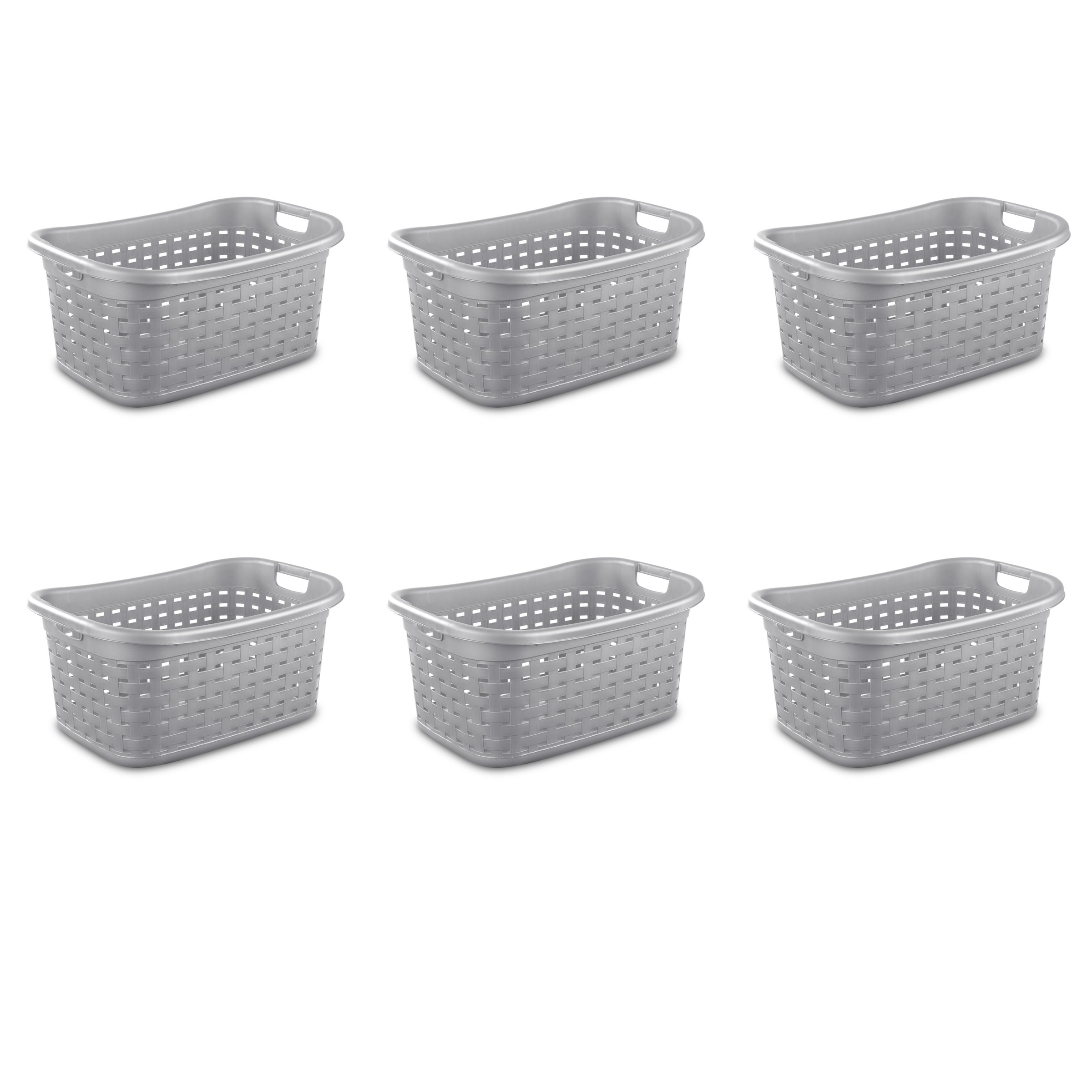 Sterilite 12756A06 Weave Laundry Basket, Cement, 6-Pack by STERILITE