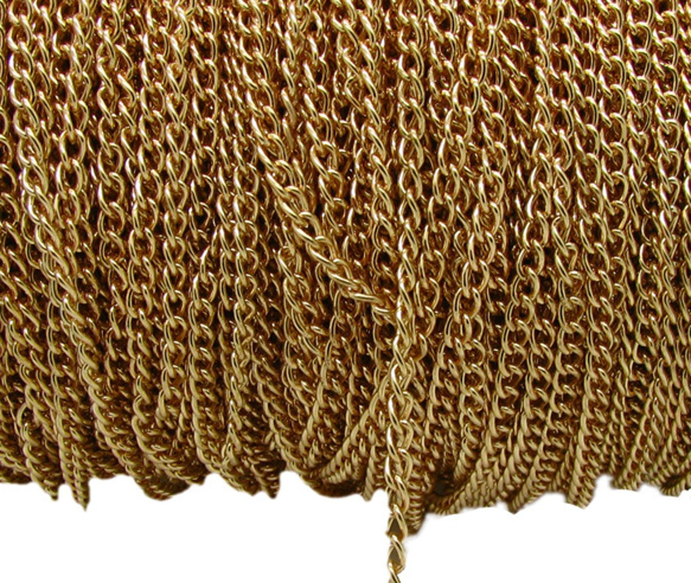 32.8 Ft Iron Twisted Flat Cross Chains - DIY Cable Chain Jewelry Making Chain Necklace Bracelet Jewelry Accessories (Bronze, 2.5mm) Numblartd