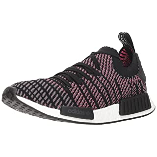 adidas Originals Men's NMD_R1 STLT PK, Black/Grey/Solar Pink, 10.5 M US