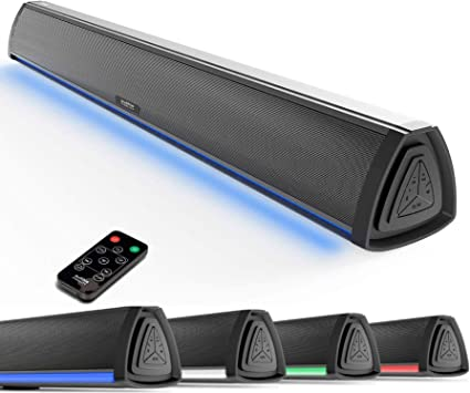 Wireless Bluetooth LED HD Sound Bar Stereo Speaker Soundbar Audio for Home PC TV