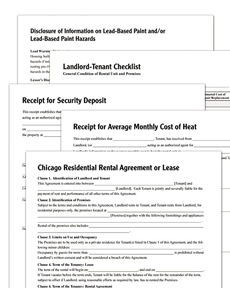 AmazonCom  Adams Residential LeaseChicago Forms And Instructions