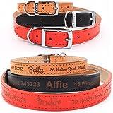 Personalised Leather Dog Collar, Ancol Heritage Finest Quality leather, Custom Bespoke UK made