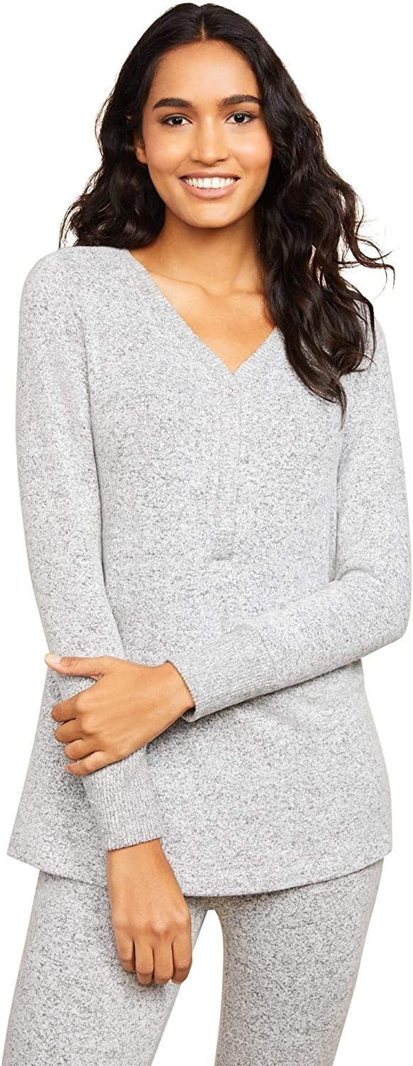 Motherhood Maternity Women's Maternity Brushed Hacci Henley Sleep Knit Top at  Women's Clothing store
