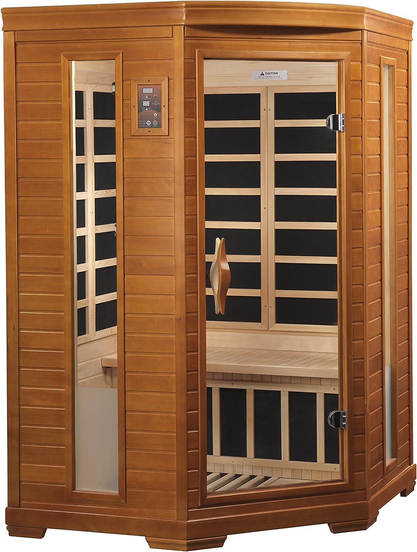 DYNAMIC SAUNAS AMZ-DYN-6225-02 Bilbao 2-Person Corner Far Infrared Sauna