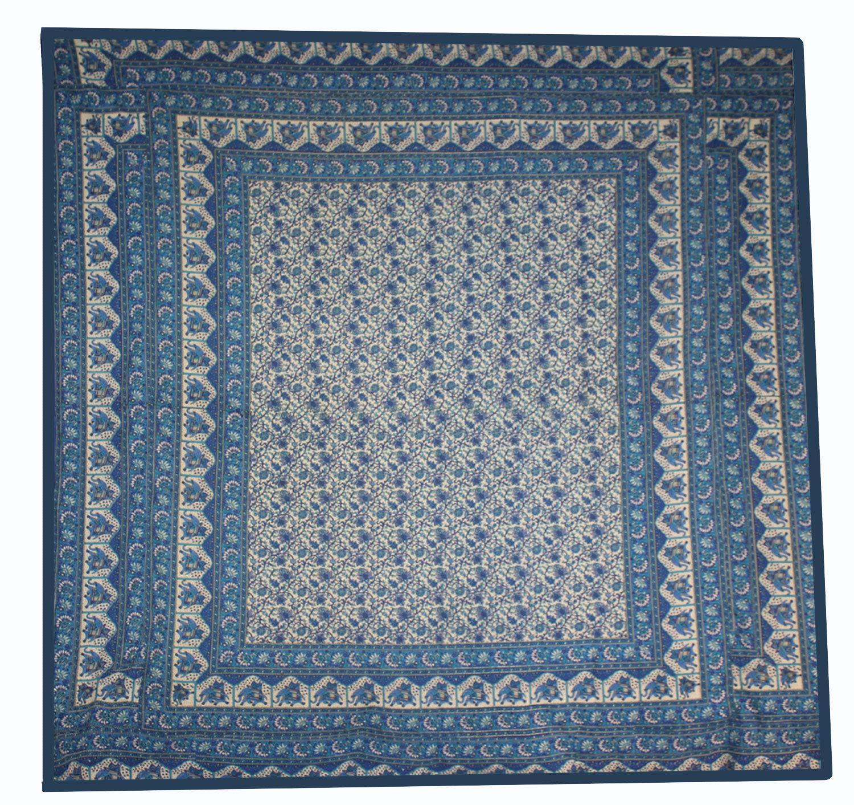 Lakkar Haveli Indian 100% Cotton California King Size Bed Sheet Spread Flat 111''X 114''
