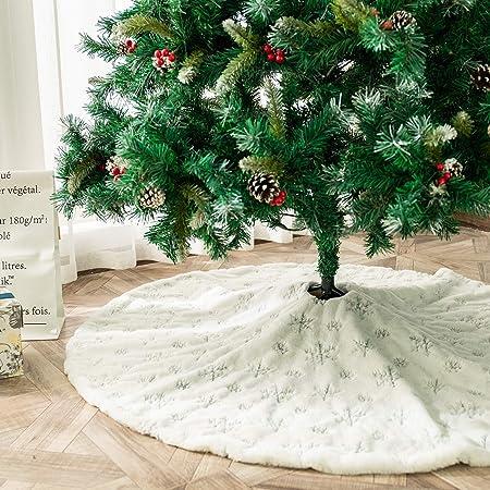 ShiyiUP Árbol de Navidad Falda de Decoración para Fiesta de Feliz ...
