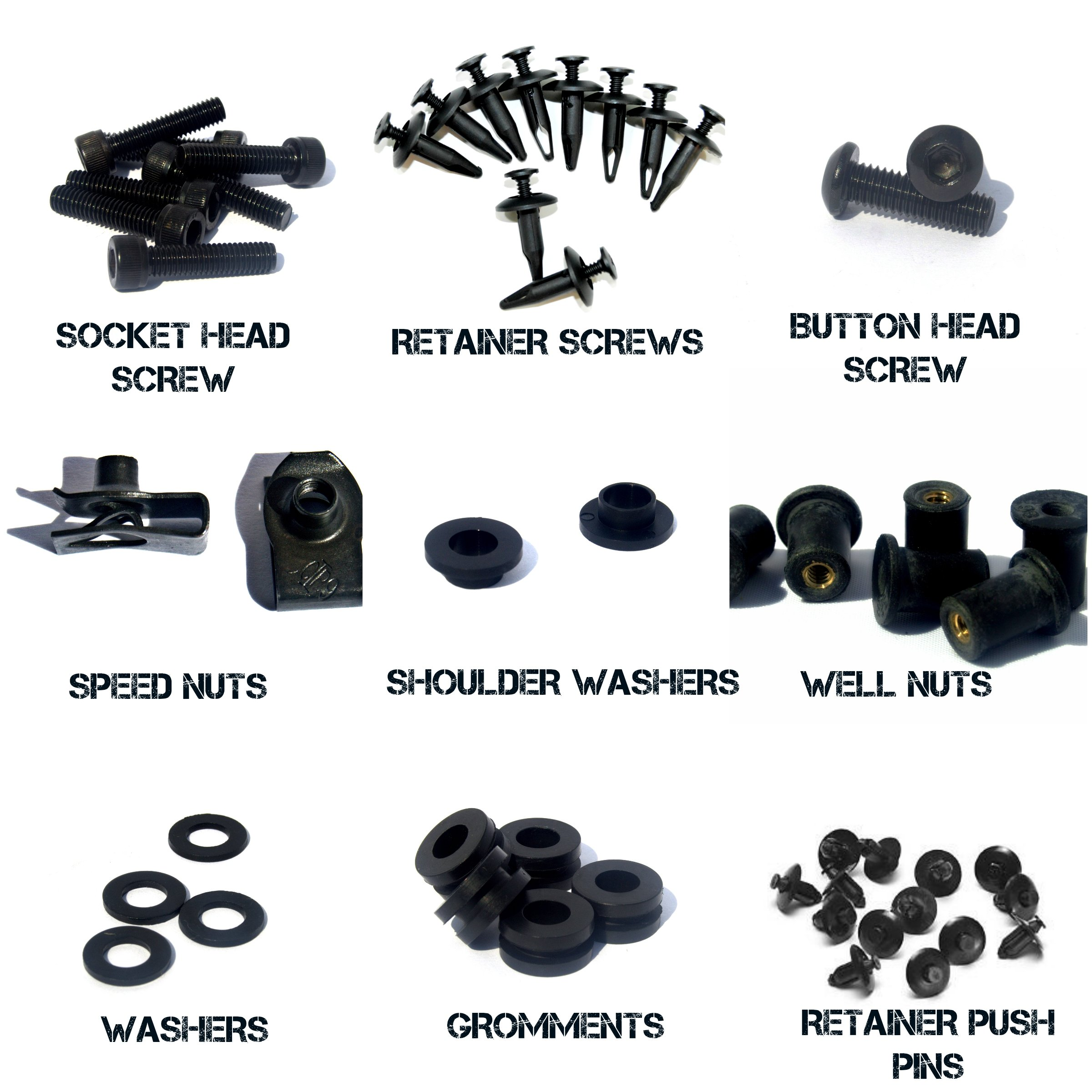 Complete Motorcycle Fairing Bolt Kit Yamaha 2004 - 2006 YZF-R1 Body Screws, Fasteners, and Hardware by Bike Boltz (Image #4)