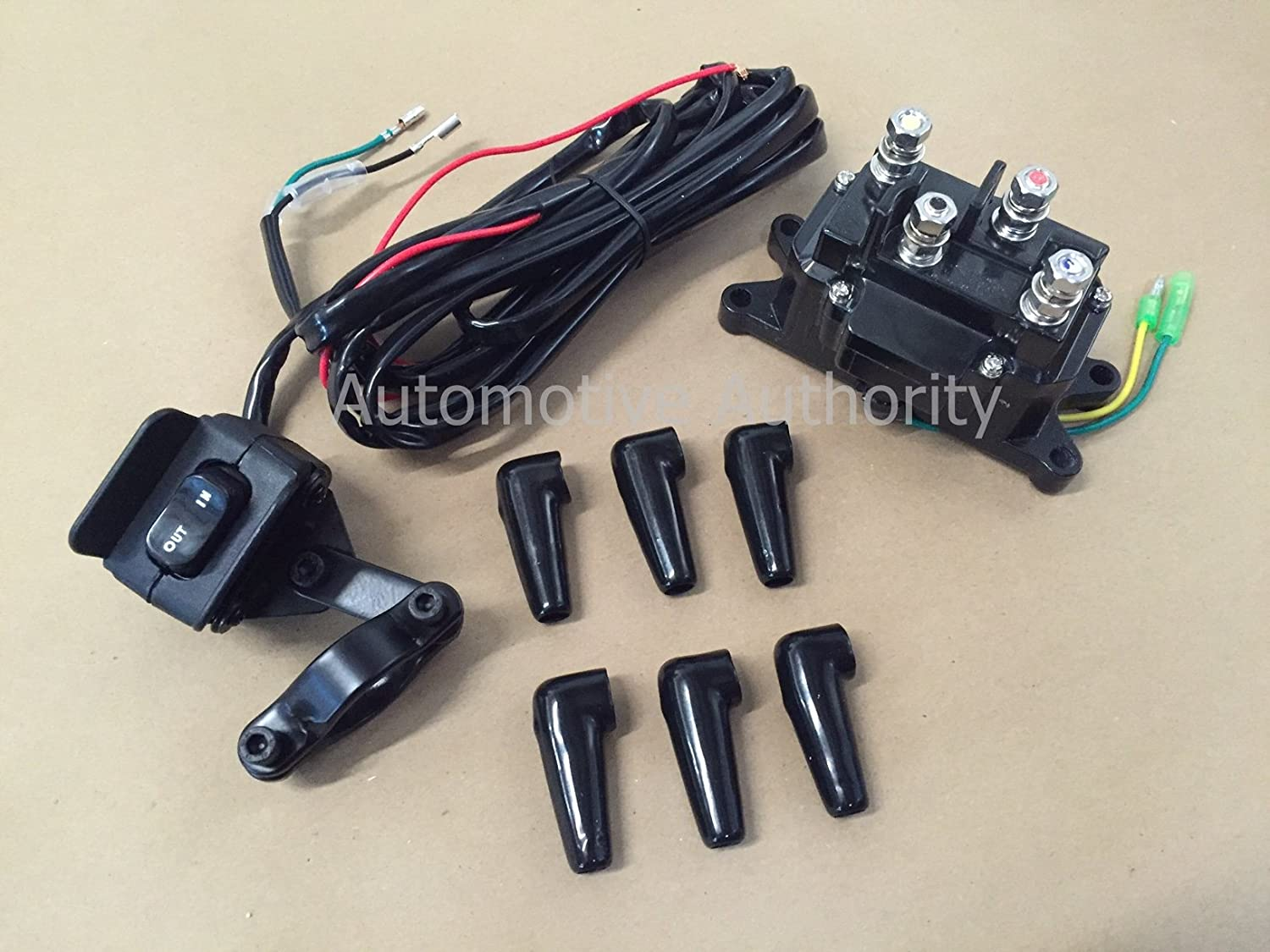New 12V Contactor /& Winch COMBO Solenoid Relay Rocker Thumb Switch For ATV UTV