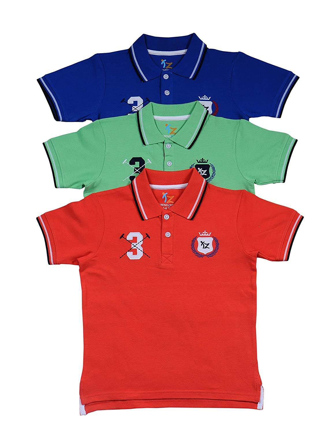 Buy trendz polo Boys' Polos (Pack of 3) at Amazon.in