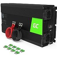 Green Cell® 1500W/3000W 24V a 220V/230V Onda sinusoidal modificada Inversor de Corriente DC AC Power Inverter…