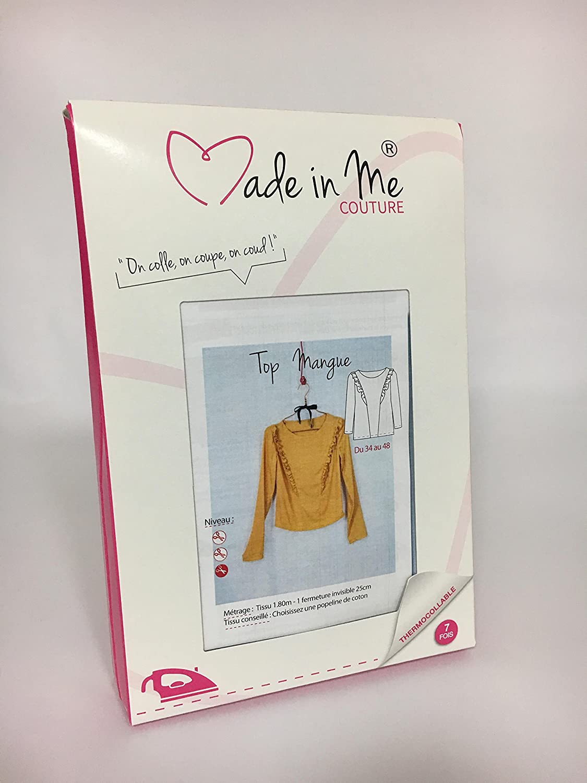 Femme 36 au 48 Planche patron de couture MADE IN ME Top Mangue Do it yourself patron de couture Patron Thermocollant