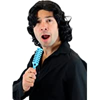 WIG ME UP - Peluca negro Hombres Mujeres Gigolo años 70 Popstar Bailarín Playboy 3750-P103(J037)