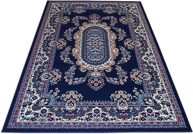 Webtappeti - Royal Shiraz - 2063 - Tapis classique oriental pour  ameublement de salon - Bleu Cm. 200x300 bleu
