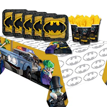 Lego Batman Childrenu0027s Birthday Party Tableware Pack Kit For 16 Guests  sc 1 st  Amazon UK & Lego Batman Childrenu0027s Birthday Party Tableware Pack Kit For 16 ...
