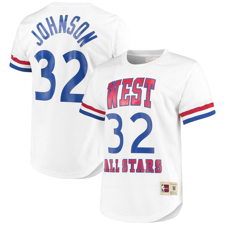 マジックジョンソンロサンゼルスレイカーズ# 32 1983 NBA All Star Westメッシュクルーネック X-Large  B079K1T5HK