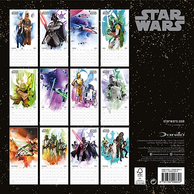 Star Wars Classic 2019 - Calendario de pared de regalo ...