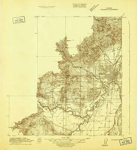 Map Of Philomath Oregon Amazon.: YellowMaps Philomath OR topo map, 1:31680 Scale, 7.5