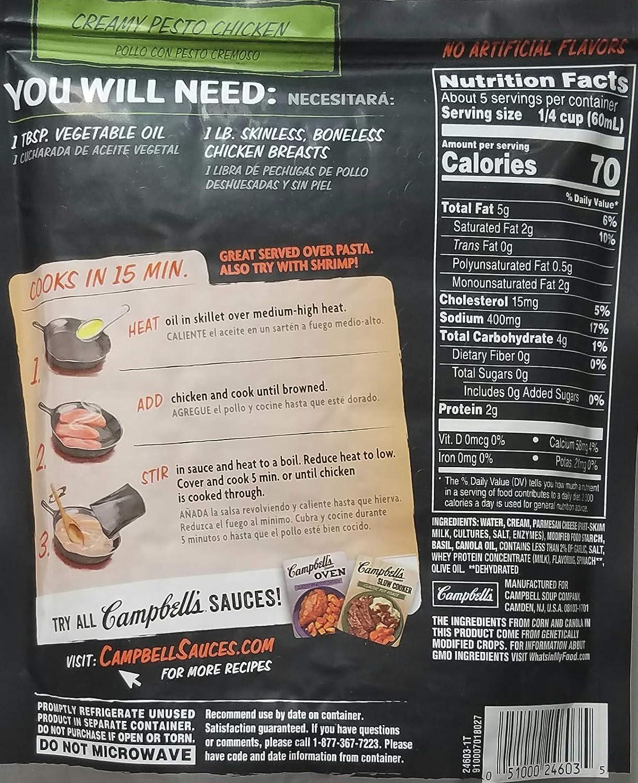 Amazon.com : Variety Pack Bundle of 8 Campbells Skillet Sauces ...